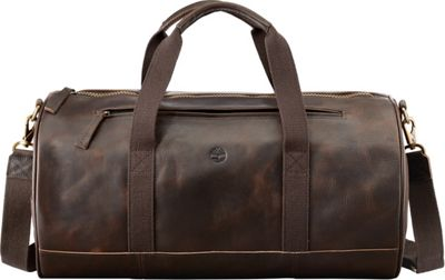 Timberland Wallets Tuckerman Leather Duffel Dark Brown - Timberland Wallets Travel Duffels