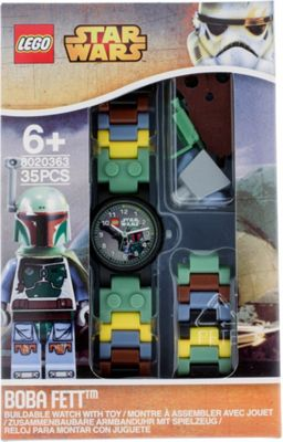 LEGO Watches Star Wars Boba Fett Kids Buildable Watch with Link Bracelet and Minifigure Green/Black - LEGO Watches Watches
