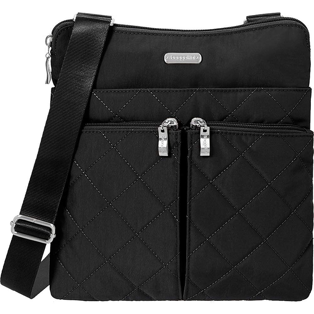 baggallini Quilted Horizon Crossbody with RFID Black Quilt - baggallini Fabric Handbags - Handbags, Fabric Handbags