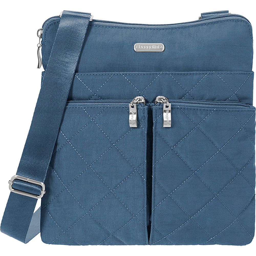 baggallini Quilted Horizon Crossbody with RFID Slate Quilt - baggallini Fabric Handbags - Handbags, Fabric Handbags