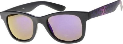 SW Global Wild Safari Retro Square Frame UV400 Sunglasses Purple - SW Global Eyewear 10586847