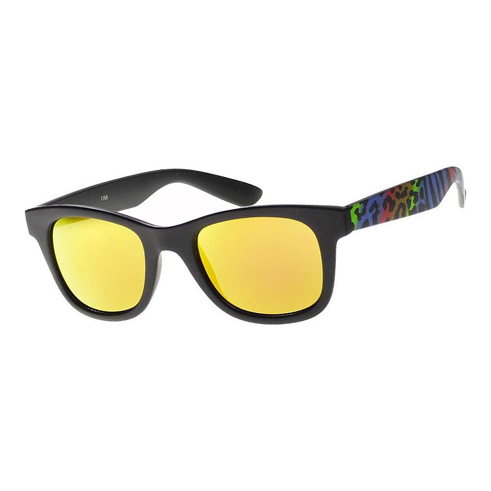 SW Global Wild Safari Retro Square Frame UV400 Sunglasses Yellow - SW Global Eyewear - Fashion Accessories, Eyewear