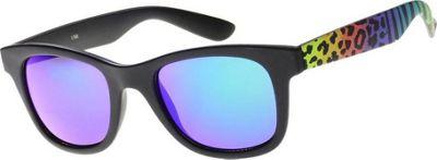 SW Global Wild Safari Retro Square Frame UV400 Sunglasses Rainbow - SW Global Eyewear
