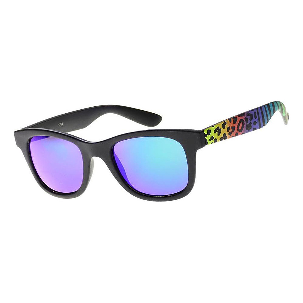 SW Global Wild Safari Retro Square Frame UV400 Sunglasses Rainbow - SW Global Eyewear - Fashion Accessories, Eyewear