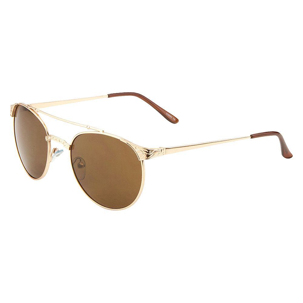SW Global Elsa Vintage Inspired Double Bar Oval Aviator Sunglasses Gold - SW Global Eyewear - Fashion Accessories, Eyewear