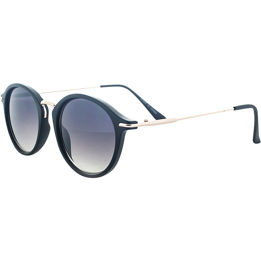 SW Global Classic Horned Rim Round Frame UV400 Sunglasses Black - SW Global Eyewear - Fashion Accessories, Eyewear