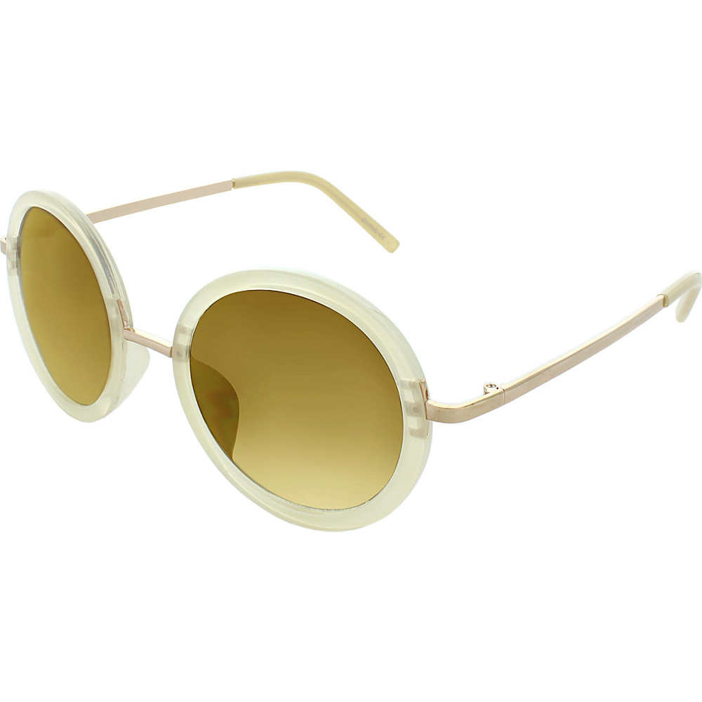 SW Global Classic Metal Bridge 50mm Round Sunglasses+G439 Beige - SW Global Eyewear - Fashion Accessories, Eyewear