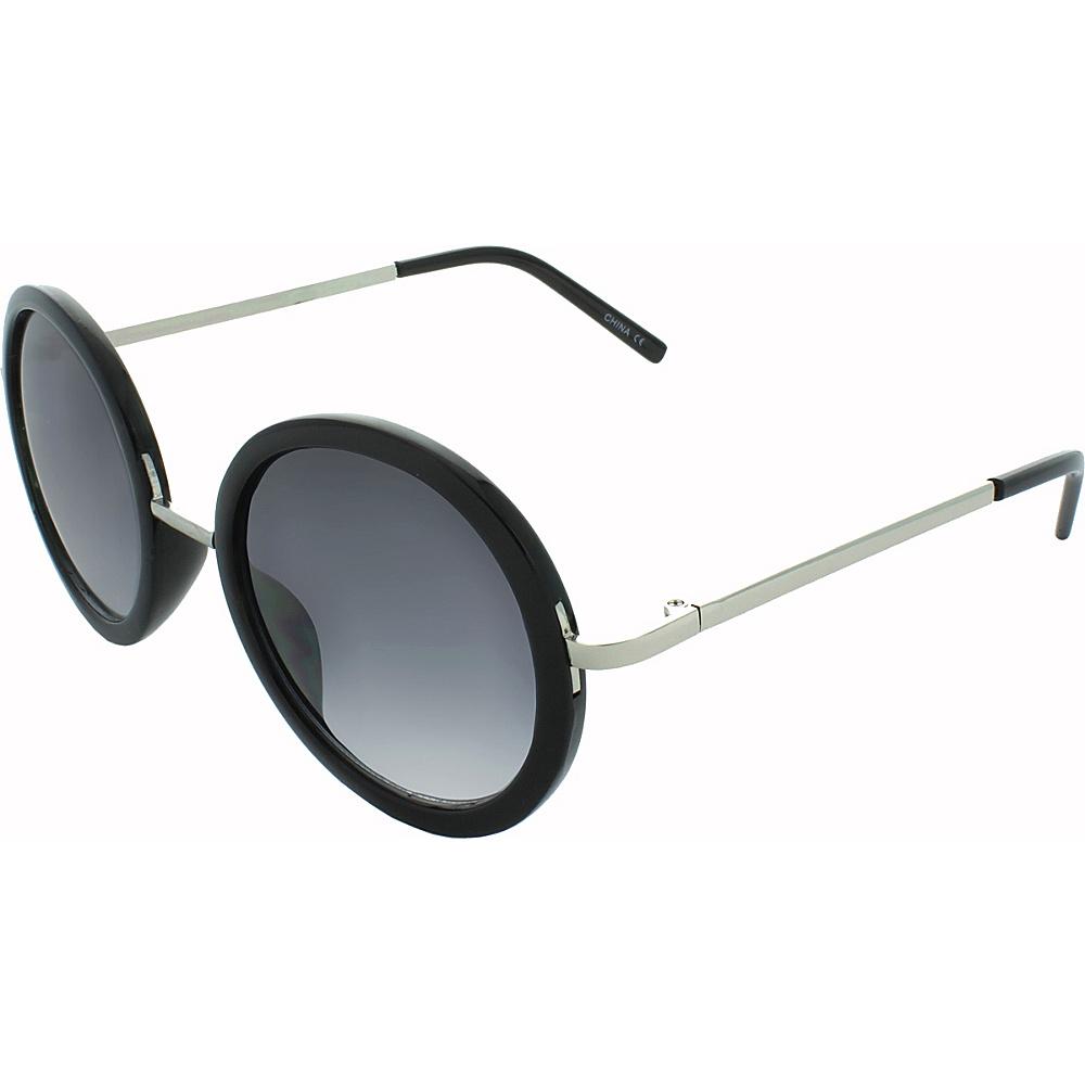 SW Global Classic Metal Bridge 50mm Round Sunglasses+G439 Black-Silver - SW Global Eyewear - Fashion Accessories, Eyewear