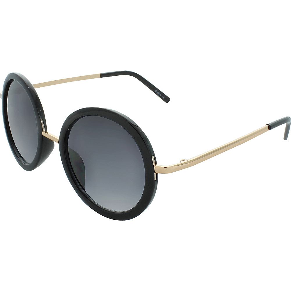 SW Global Classic Metal Bridge 50mm Round Sunglasses+G439 Matte-Black - SW Global Eyewear - Fashion Accessories, Eyewear