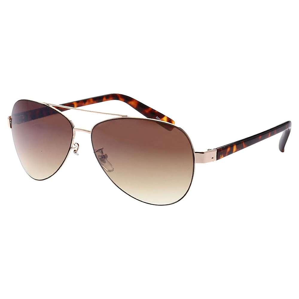 SW Global Ultra Light Weight Sport Aviator UV400 Sunglasses Gold Leopard Amber - SW Global Eyewear - Fashion Accessories, Eyewear