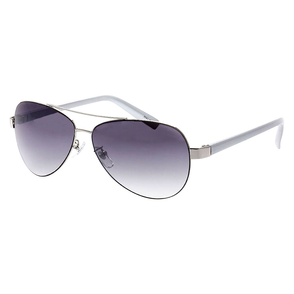 SW Global Ultra Light Weight Sport Aviator UV400 Sunglasses Silver White Gradient - SW Global Eyewear - Fashion Accessories, Eyewear