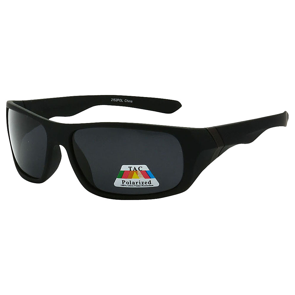 SW Global Polarized Wrap Around Full Frame Sunglasses Black - SW Global Eyewear - Fashion Accessories, Eyewear