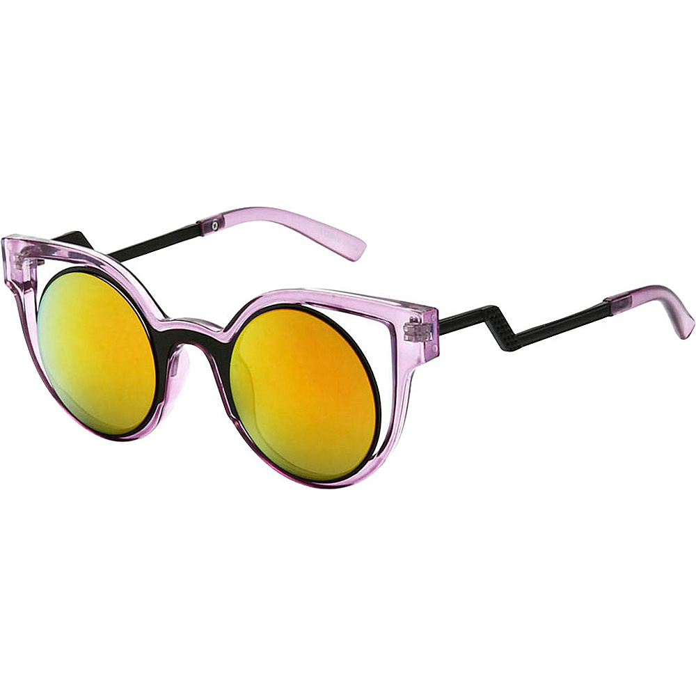 SW Global High Fashion Cateye Double Frame Reflective Lens Sunglasses Pink - SW Global Eyewear - Fashion Accessories, Eyewear