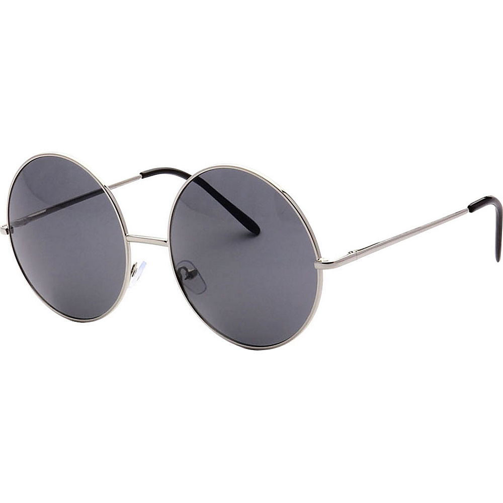 SW Global Oversized Vintage Street Fashion Round Frame Sunglasses Silver - SW Global Eyewear - Fashion Accessories, Eyewear