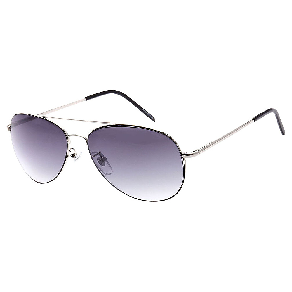 SW Global Full Metal Frame Sporty Aviator UV400 Sunglasses Silver Gradient - SW Global Eyewear - Fashion Accessories, Eyewear