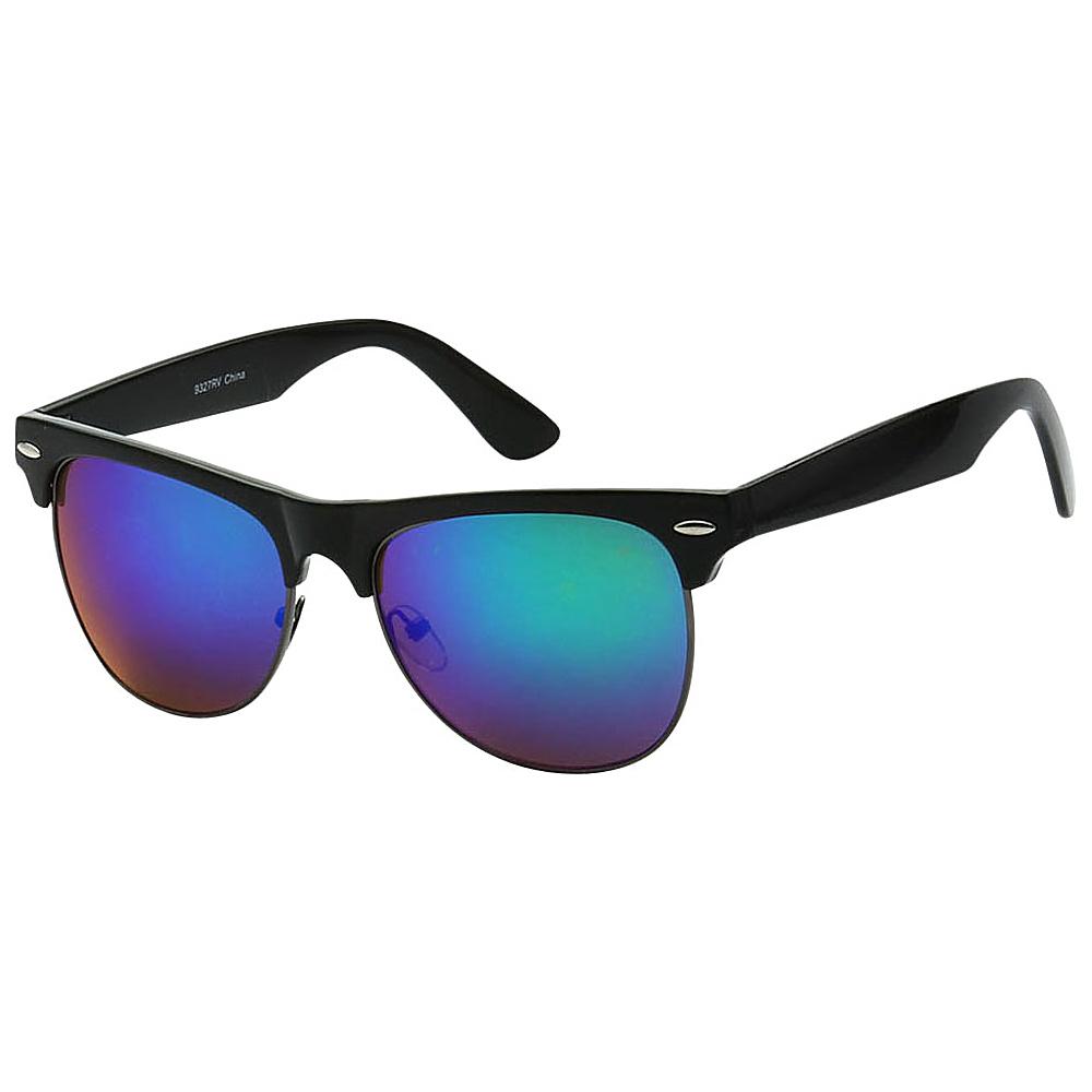 SW Global Classic Single Bar Half Frame Sunglasses Blue - SW Global Eyewear - Fashion Accessories, Eyewear