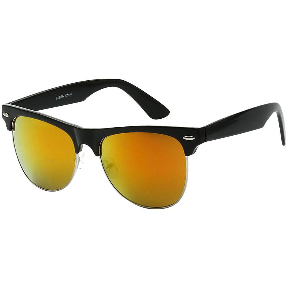 SW Global Classic Single Bar Half Frame Sunglasses Orange - SW Global Eyewear - Fashion Accessories, Eyewear
