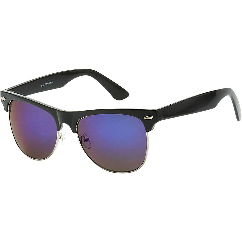 SW Global Classic Single Bar Half Frame Sunglasses Purple - SW Global Eyewear - Fashion Accessories, Eyewear