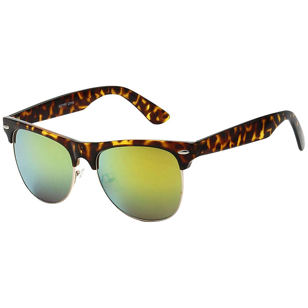 SW Global Classic Single Bar Half Frame Sunglasses Yellow - SW Global Eyewear - Fashion Accessories, Eyewear