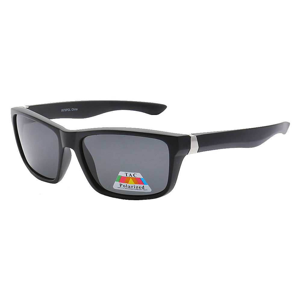 SW Global Polarized Full Frame Retro Square UV400 Sunglasses Black Black - SW Global Eyewear - Fashion Accessories, Eyewear