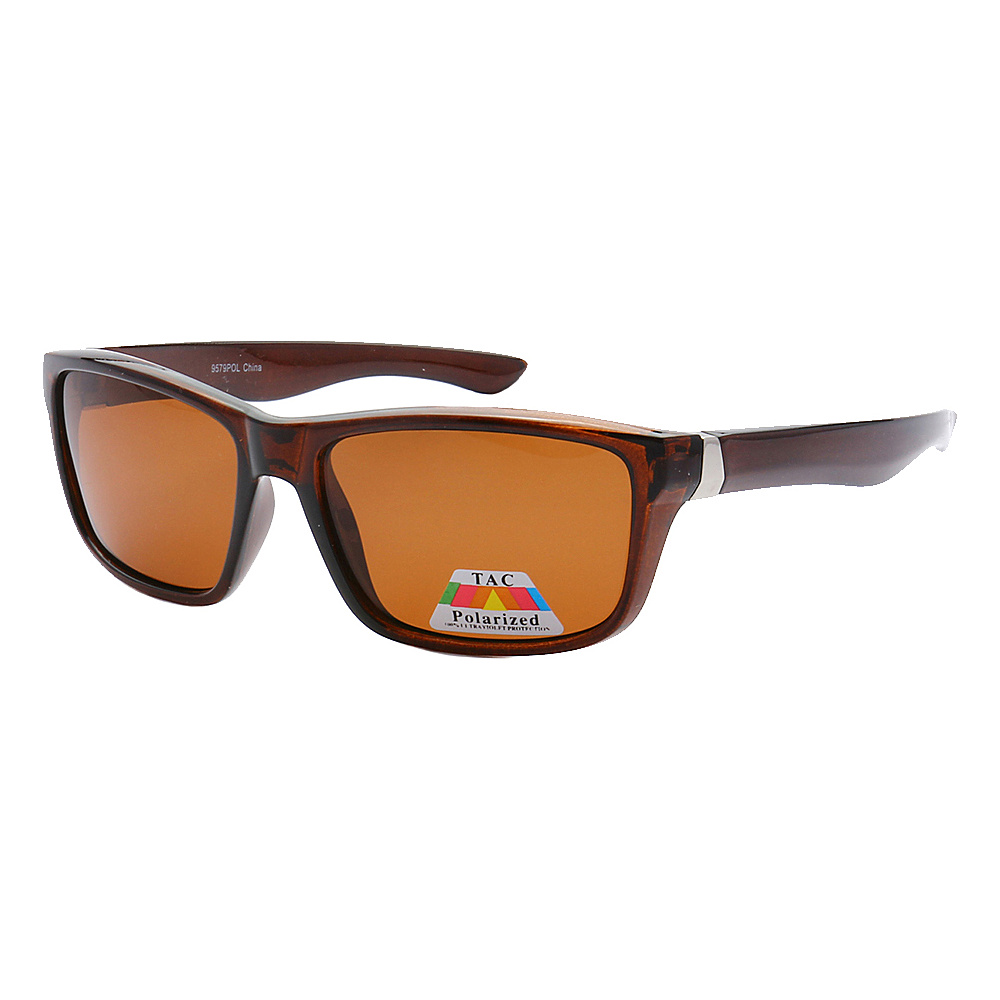 SW Global Polarized Full Frame Retro Square UV400 Sunglasses Brown Brown - SW Global Eyewear - Fashion Accessories, Eyewear