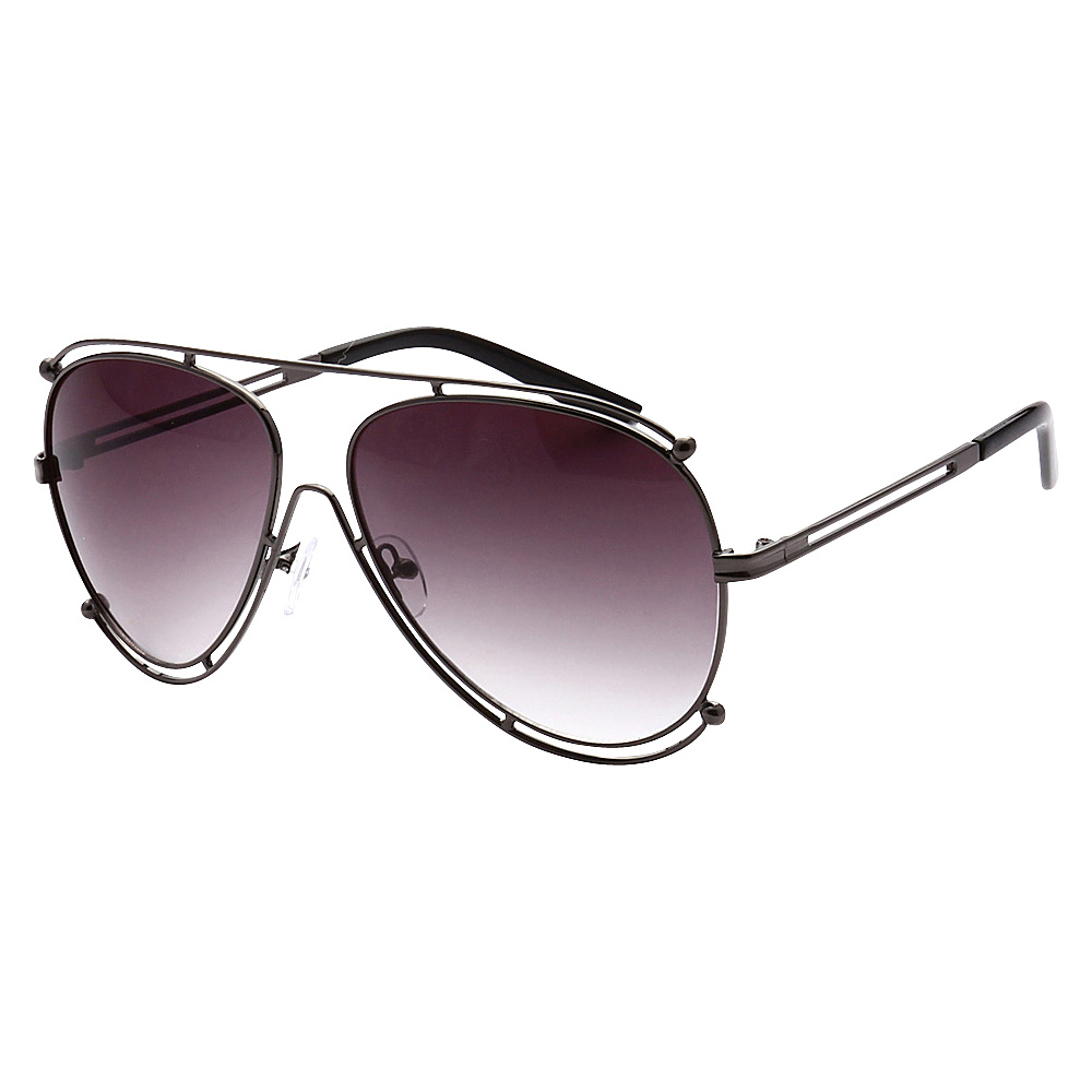 SW Global Full Metal Frame Fashion Aviator Sunglasses Black Gradient - SW Global Eyewear - Fashion Accessories, Eyewear