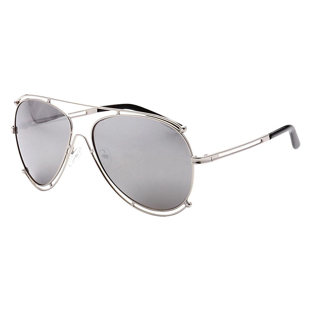 SW Global Full Metal Frame Fashion Aviator Sunglasses Silver Silver - SW Global Eyewear - Fashion Accessories, Eyewear