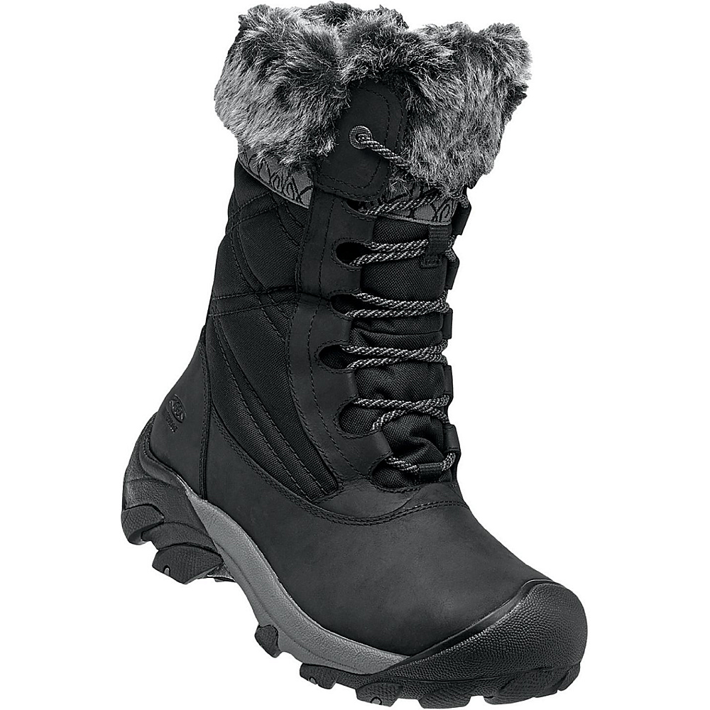 KEEN Womens Hoodoo III Waterproof Boot 6 - Black/Gargoyle - KEEN Womens Footwear - Apparel & Footwear, Women's Footwear