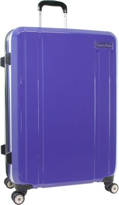 Calvin Klein Luggage Calvin Klein Luggage Beacon 28 inch Checked Hardside Spinner Luggage Purple - Calvin Klein Luggage Hardside Checked