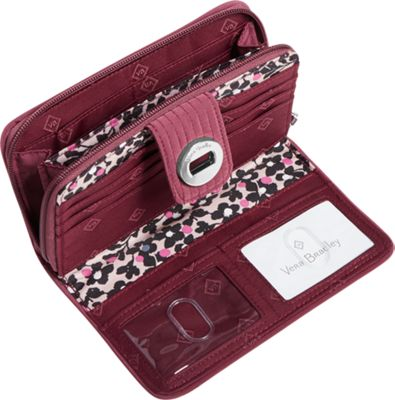 Vera Bradley RFID Turnlock Wallet-Solids Hawthorn Rose - Vera Bradley Women's Wallets