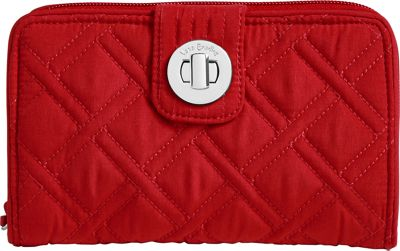 Vera Bradley RFID Turnlock Wallet-Solids Cardinal Red - Vera Bradley Women's Wallets