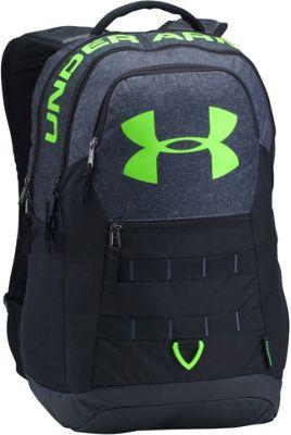 Under Armour Big Logo 5.0 Laptop Backpack Stealth Gray/Black/Quirky Lime - Under Armour Laptop Backpacks 10590338