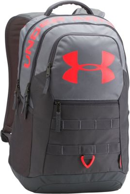 Under Armour Big Logo 5.0 Laptop Backpack Steel/Graphite/Marathon Red - Under Armour Laptop Backpacks