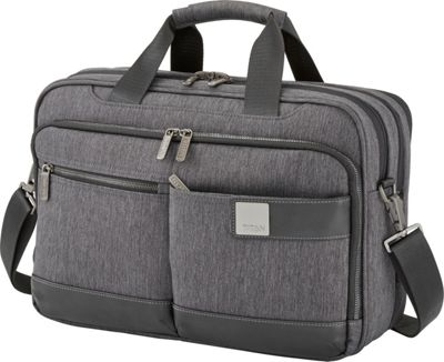 Titan Bags Power Pack Organizational 15.5 inch Laptop Brief Mixed Grey - Titan Bags Non-Wheeled Business Cases