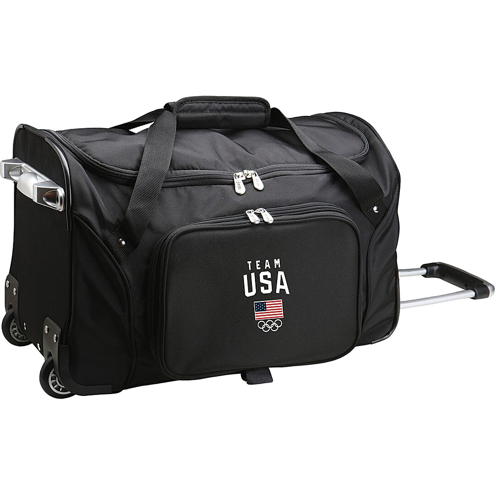 MOJO Denco Team USA Olympics 22 Wheeled Duffel Bag Black - MOJO Denco Travel Duffels - Duffels, Travel Duffels