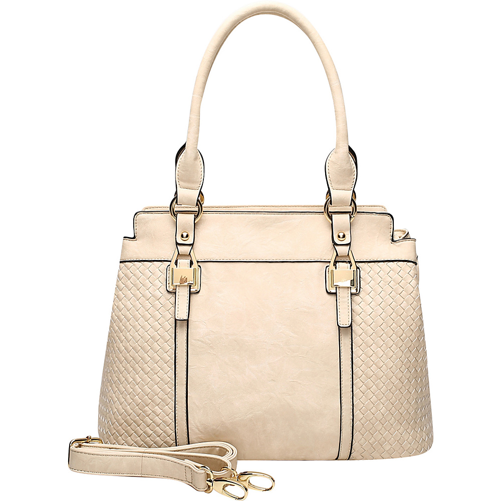 MKF Collection by Mia K. Farrow Aries Tote Beige - MKF Collection by Mia K. Farrow Manmade Handbags - Handbags, Manmade Handbags