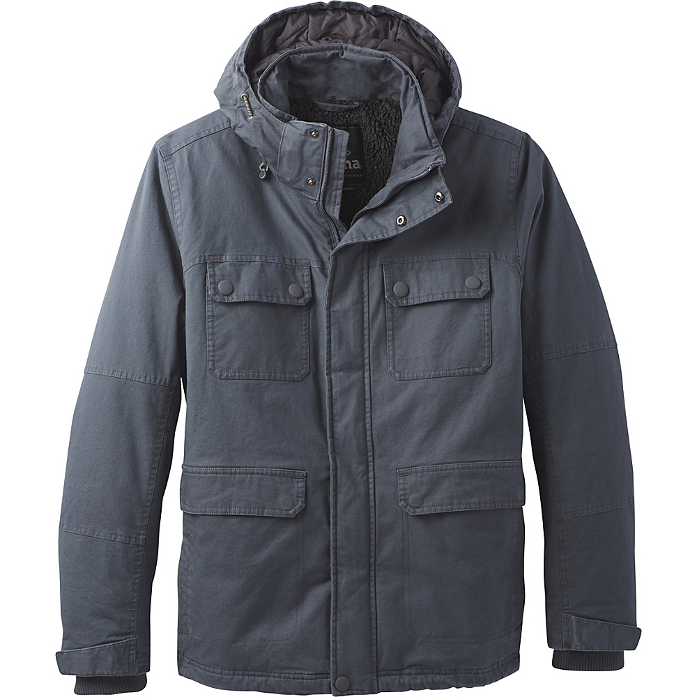 PrAna Bronson Towne Jacket L - Coal - PrAna Mens Apparel - Apparel & Footwear, Men's Apparel