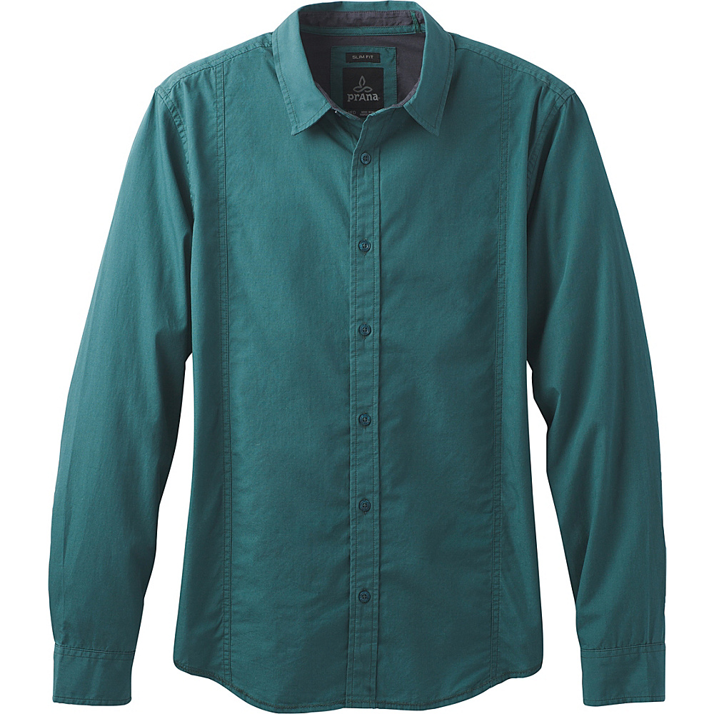 PrAna Lukas Slim Shirt XXL - Deep Balsam - PrAna Mens Apparel - Apparel & Footwear, Men's Apparel