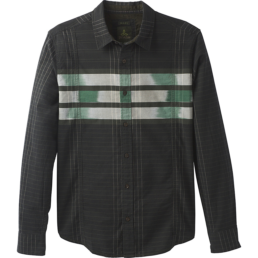 PrAna Lukas Slim Shirt M - Dark Olive - PrAna Mens Apparel - Apparel & Footwear, Men's Apparel