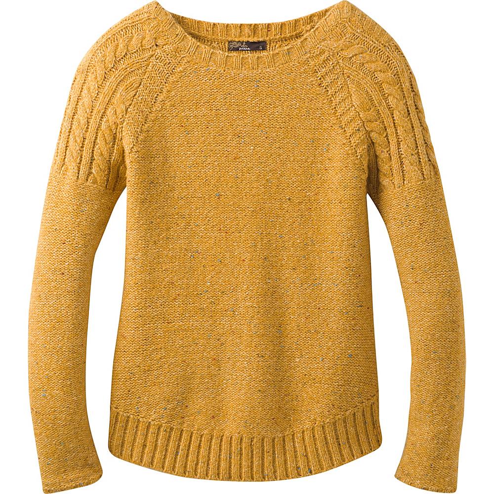 PrAna Pia Sweater L - Curry - PrAna Womens Apparel - Apparel & Footwear, Women's Apparel