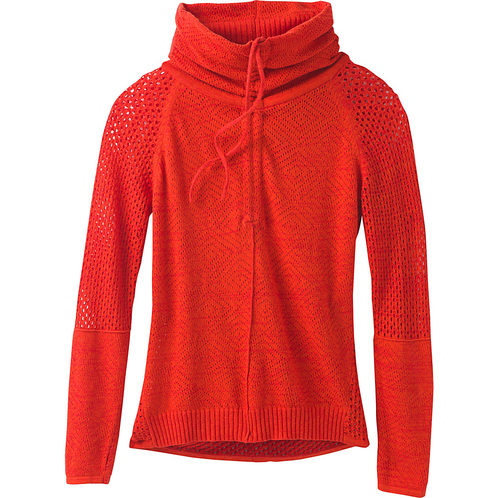 PrAna Cedar Sweater M - Fiery Red - PrAna Womens Apparel - Apparel & Footwear, Women's Apparel