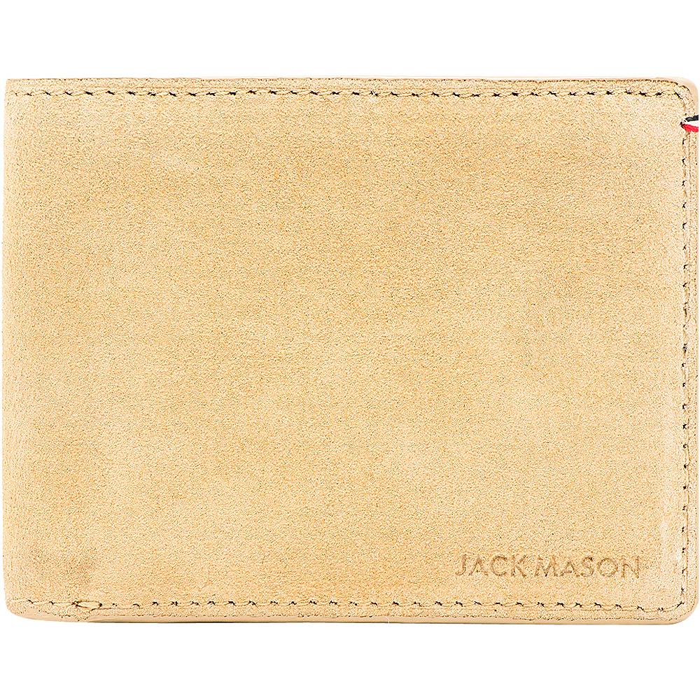 Jack Mason League Mens Suede Bifold Wallet Tan - Jack Mason League Mens Wallets - Work Bags & Briefcases, Men's Wallets
