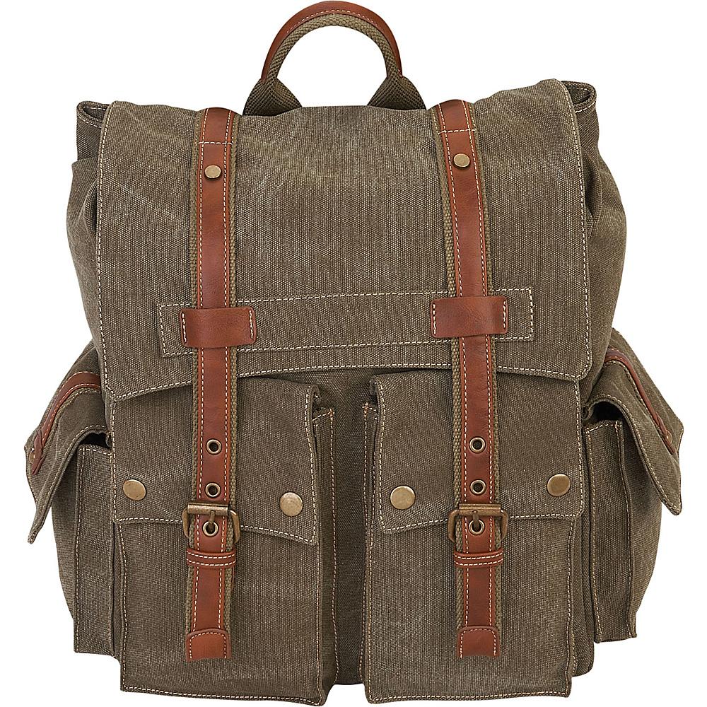 Sun N Sand Deacon Backpack Military Green - Sun N Sand School & Day Hiking Backpacks - Backpacks, School & Day Hiking Backpacks