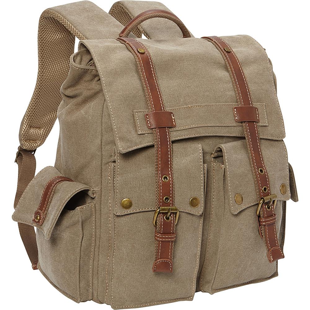 Sun N Sand Deacon Backpack Khaki - Sun N Sand School & Day Hiking Backpacks - Backpacks, School & Day Hiking Backpacks