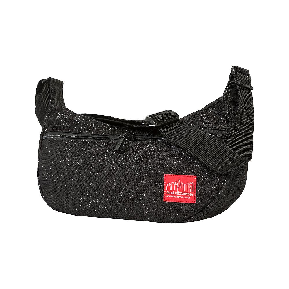 Manhattan Portage Midnight Crescent Street Shoulder Bag Black - Manhattan Portage Designer Handbags - Handbags, Designer Handbags