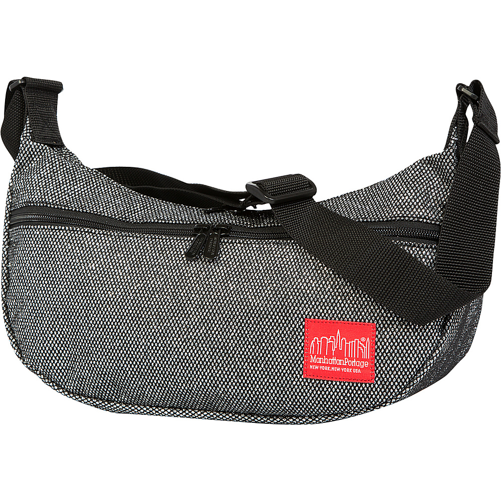 Manhattan Portage Midnight Crescent Street Shoulder Bag Gunmetal Silver - Manhattan Portage Designer Handbags - Handbags, Designer Handbags