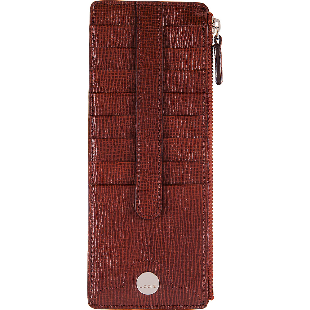 Lodis Business Chic RFID Credit Card Case with Zipper Pocket Russet - Lodis Designer Handbags - Handbags, Designer Handbags