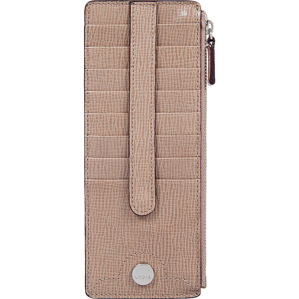Lodis Business Chic RFID Credit Card Case with Zipper Pocket Taupe - Lodis Designer Handbags - Handbags, Designer Handbags