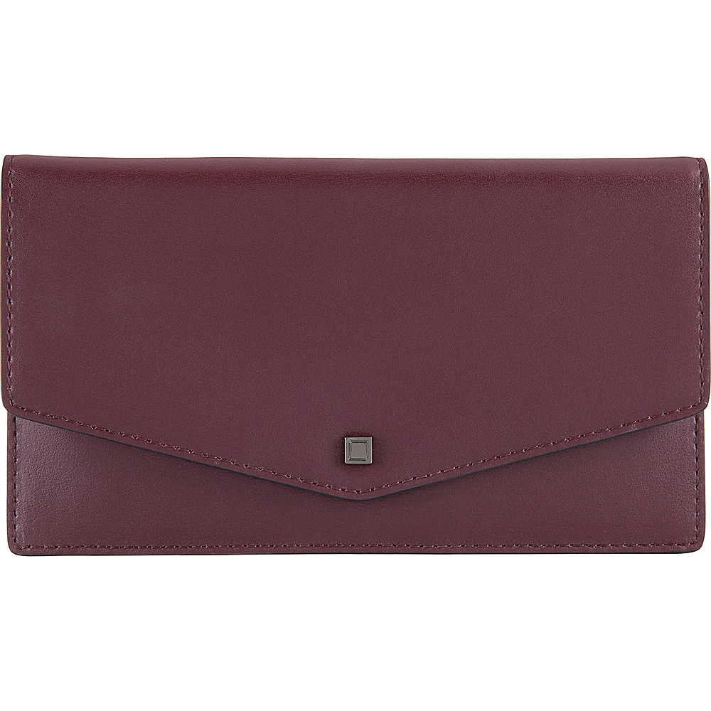 Lodis Silicon Valley RFID Mel Flap Card Case with Zip Pocket Chianti/Taupe - Lodis Womens Wallets - Women's SLG, Women's Wallets