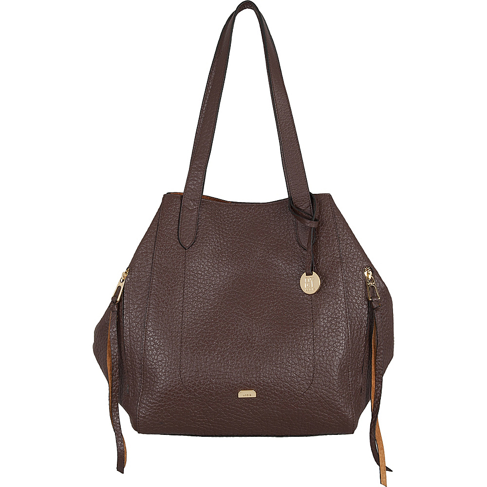 Lodis Borrego RFID Charlize Tote Dark Brown - Lodis Leather Handbags - Handbags, Leather Handbags